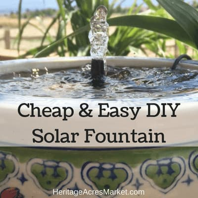 Cheap & Easy DIY Solar Water Fountain