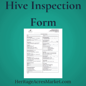 Hive Inspection Form for Beekeepers 1