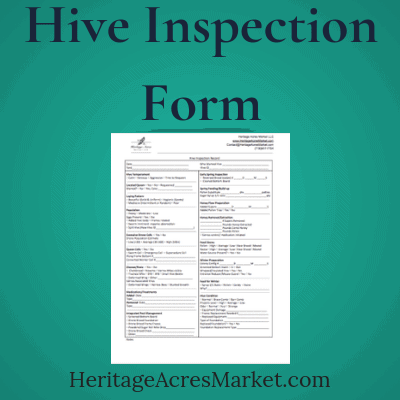 Hive Inspection Form for Beekeepers