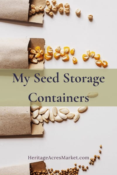 My Seed Storage Containers