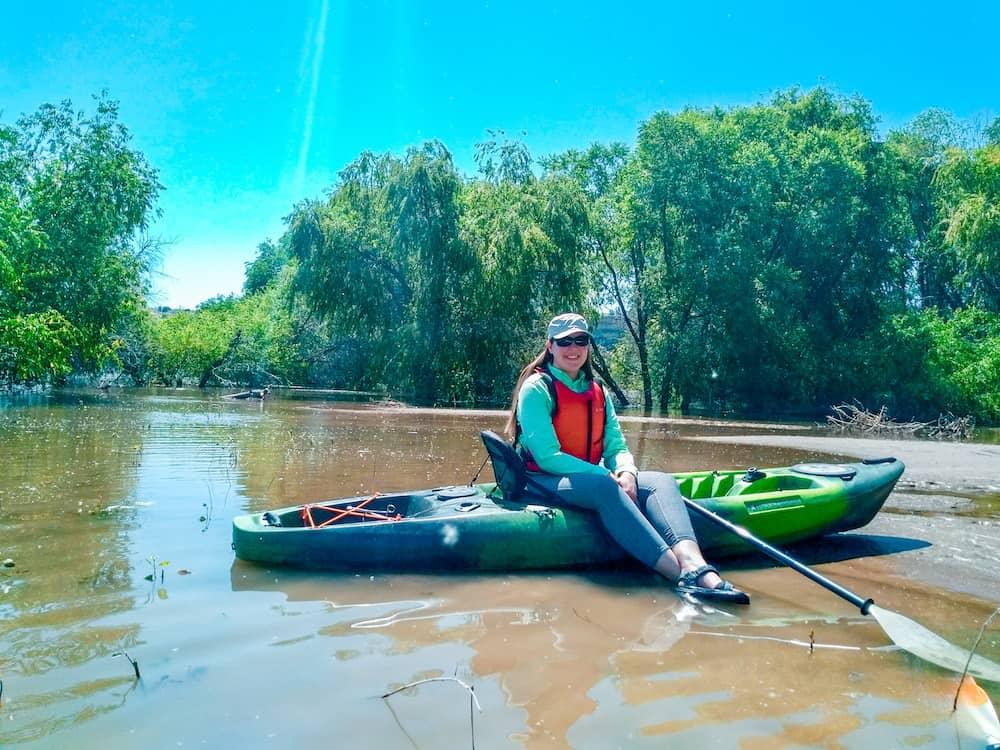 Nicole Genentta Kayaking
